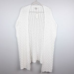 Anthropologie | Mo : Vint Cable Knit Sweater Shawl